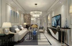 二居94平輕奢風格客廳裝修設計圖