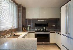 126平米新中式風格三居室廚房裝修設計效果圖欣賞