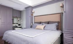 110平美式風格三室兩廳臥室裝修實景圖片