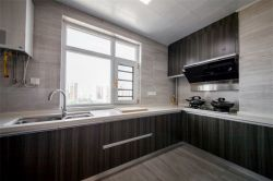 現代簡約風格105平米三居室廚房櫥柜設計圖片