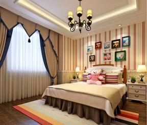 美式风格儿童房装修效果图 儿童房背景墙装修效果图