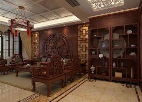 中式沙發背景墻裝飾 中式沙發背景墻圖片