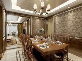美式風格餐廳背景墻 美式風格餐廳裝修