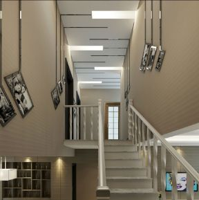 現代簡約樓梯復式裝修效果圖 現代簡約樓梯裝修效果圖
