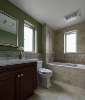 现代美式风格卫生间装修图片 美式风格卫生间装修图片