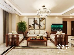 三居160平中式风格客厅装修设计效果图欣赏