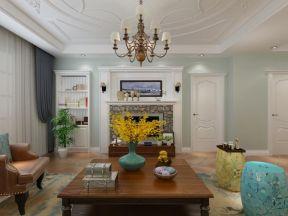 簡約美式客廳 簡約美式客廳背景墻