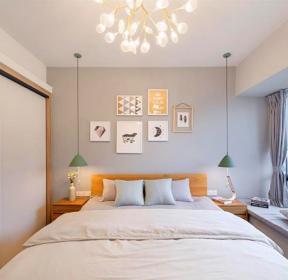 120平三室兩廳北歐風格臥室飄窗設計效果圖-每日推薦