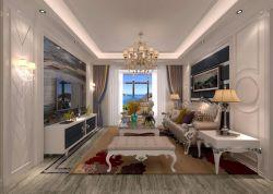 三居124平混搭風格客廳家裝圖片全集