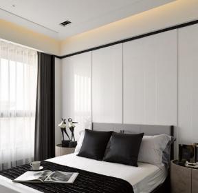 150平米现代简约黑白色调卧室装修效果图-每日推荐