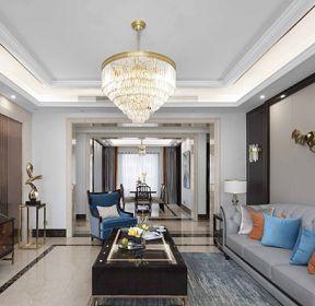 三居109平简欧风格客厅装修效果图-每日推荐