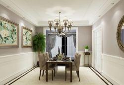 四室兩廳155平美式風格餐廳吊燈裝修設計圖