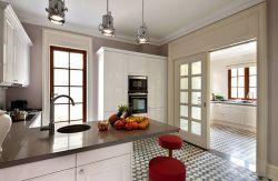 復式255平美式風格廚房裝修設計圖