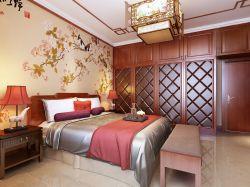 二居94平新中式風格臥室裝修設計圖