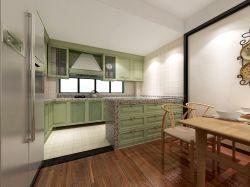 126平米田園風格三居室廚房餐桌裝修效果圖