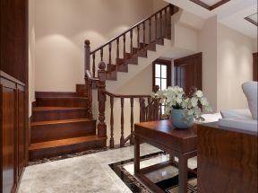 中式別墅樓梯裝修效果圖 中式別墅樓梯效果圖