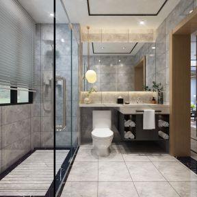 三居室110平米轻奢风卫生间装修设计效果图