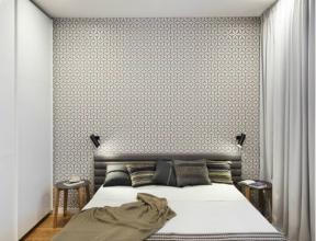 臥室床頭壁紙背景墻效果圖 臥室床頭壁紙圖片