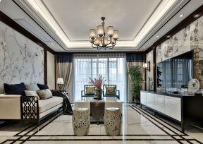 新中式風格客廳吊頂 新中式風格客廳170平