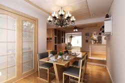 三居120平現代簡約風格餐廳裝修設計圖欣賞