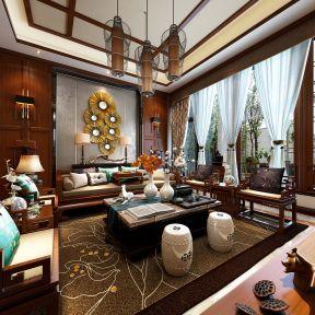 中式別墅客廳吊頂裝修效果圖 中式別墅客廳裝修