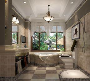 美式卫生间设计 美式卫生间装修图