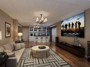 別墅客廳電視柜效果圖 別墅客廳電視墻