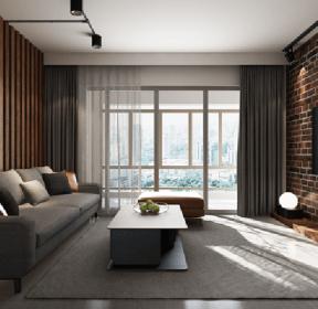 四室140平工業風格客廳裝修效果圖-每日推薦