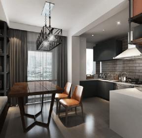四室140平工業風格餐廳裝修效果圖-每日推薦
