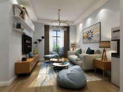二居78平歐式風格客廳裝修設計圖欣賞