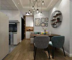 二居78平歐式風格餐廳裝修設計圖欣賞