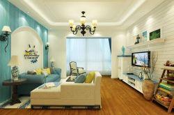 地中海風格二居93平客廳裝修效果圖