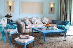 地中海風格三居93平客廳裝修設計圖
