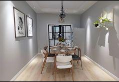 116平米三居室現代簡約風格裝修設計效果圖