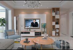 126平米三居室簡約風格裝修設計效果圖