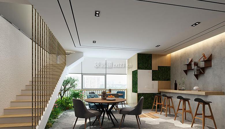 soho大楼500平现代风格办公室装修效果图