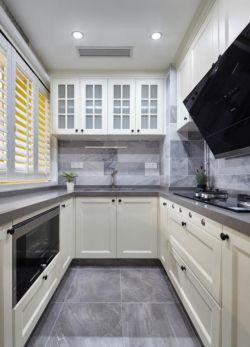 75平米小戶型u型廚房設計裝修效果圖