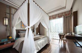 新中式臥室效果圖 新中式臥室設計圖片 中式床裝修效果圖