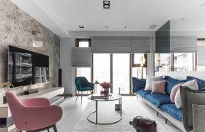 客廳電視墻裝修效果圖欣賞 客廳沙發顏色搭配