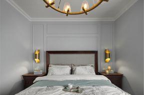 簡約美式臥室裝修效果圖 床頭壁燈效果圖設計