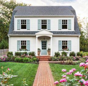 2019農村自建二層小別墅庭院花園裝修設計圖-每日推薦