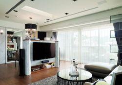 現代風格新房客廳電視背景墻裝修設計圖片