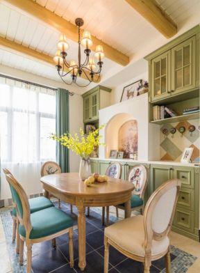餐桌椅家具 美式田園餐廳裝修效果圖