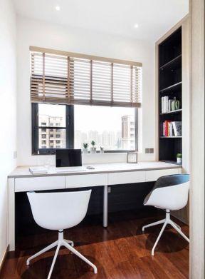 飄窗書桌裝修效果圖 飄窗書桌設計  小戶型書房裝修圖片