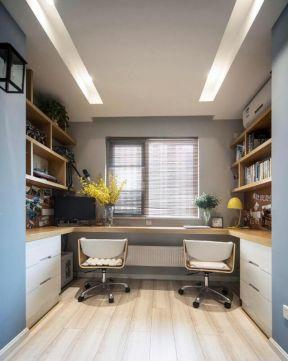 小戶型書房裝修效果圖 飄窗書桌裝修效果圖片 小戶型書房裝修圖片