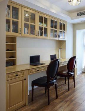 書桌書柜圖片大全 雙人書房裝修設計