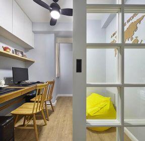 小戶型歐式風格家居書房風扇燈裝修圖片-每日推薦