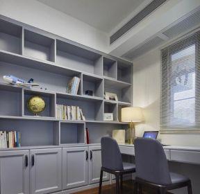 歐式風格家居書房整體書柜設計裝修圖片-每日推薦