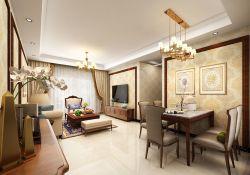 三居93平歐式風格客廳裝修效果圖