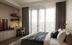 室窗簾裝飾效果圖 臥室書桌裝修效果圖 臥室書桌設計圖片